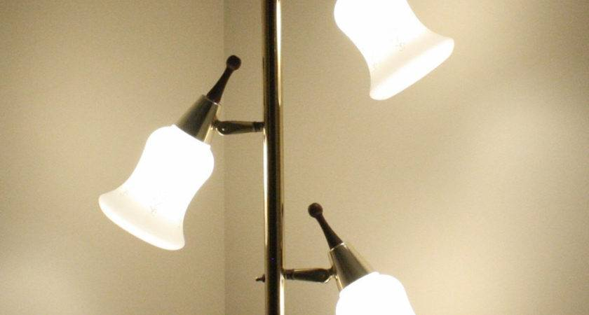 Vintage Pole Lamp Tension Floor Ceiling