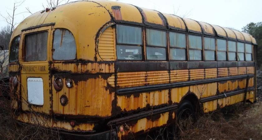 Vintage School Bus Photograph Rivkah Honeysgirl
