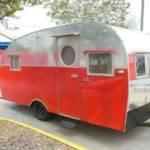 Vintage Trotwood Travel Trailer Canned Ham Camper