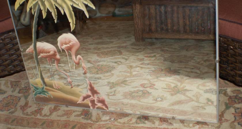 Vintage Turner Art Deco Mirror Flamingos
