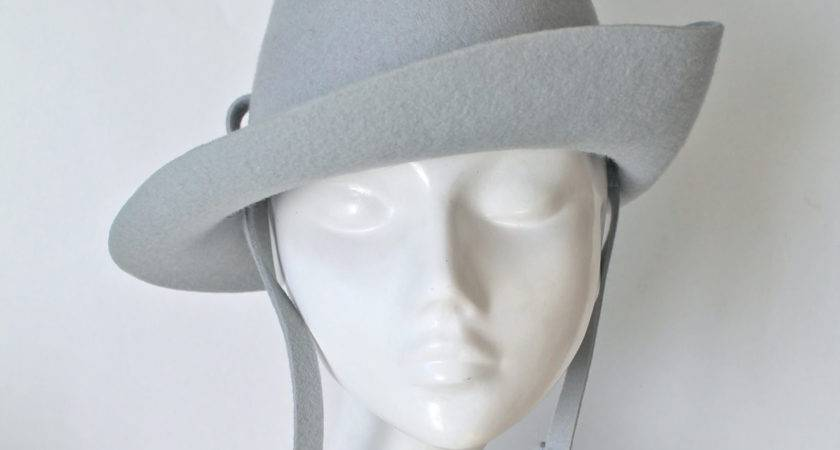 Vintage Vagabond Hat Henry Pollak Blue Gray Wool Felt