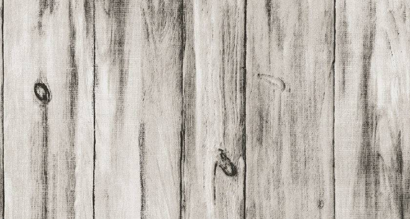 Vintage Wood White Non Woven Vinyl Decorative