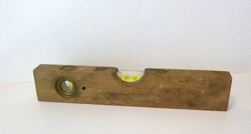 Vintage Wooden Level Industrial Early Century