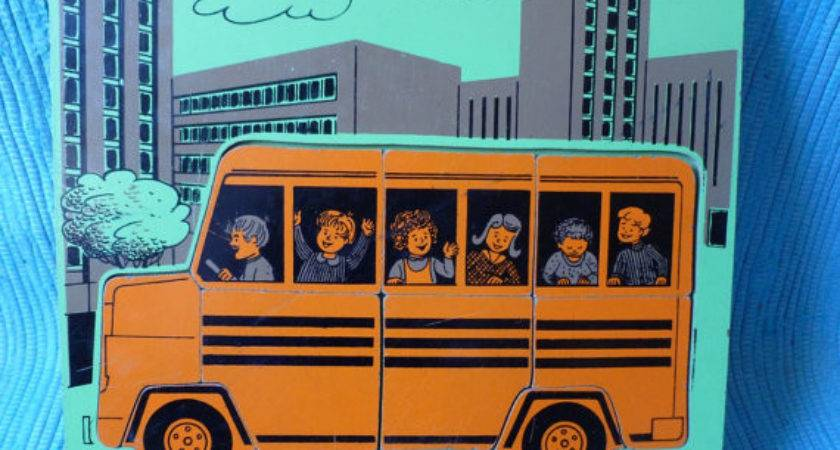 Vintage Wooden School Bus Puzzle Yourcarnival Etsy