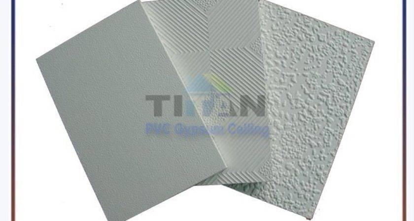 Vinyl Coated Pvc Gypsum Ceiling Tiles Buy