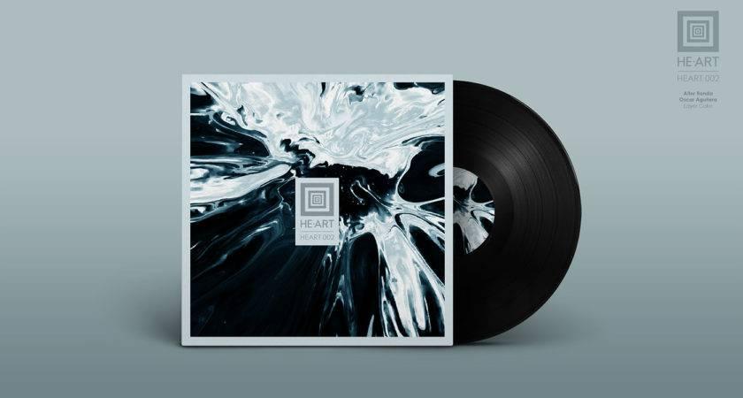 Vinyl Cover Record Mock Ttom