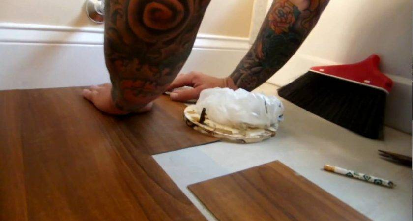 Vinyl Plank Bathroom Install Youtube