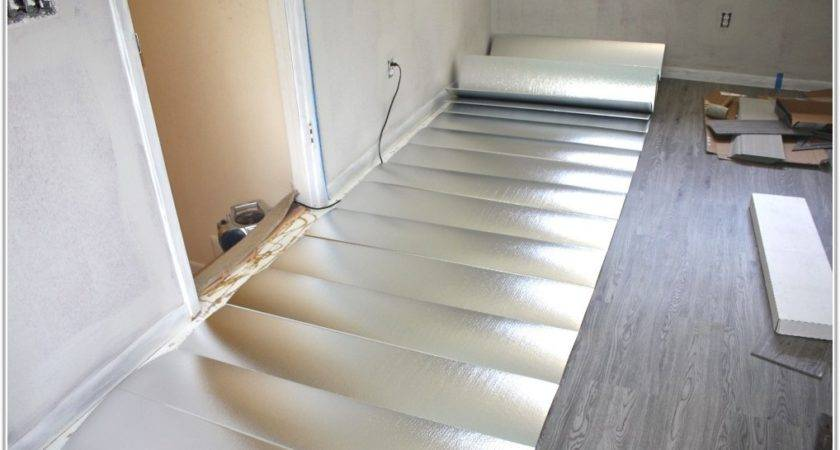 Vinyl Plank Flooring Underlayment Home