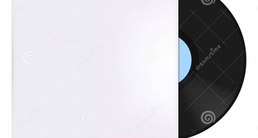 Vinyl Record Cover Vector Illustration Blue