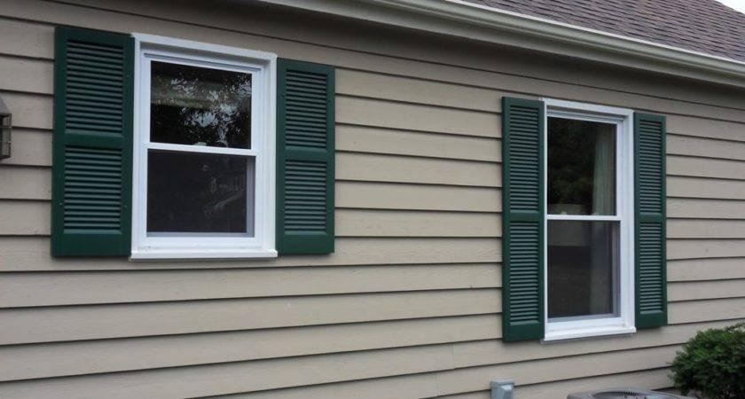 Vinyl Shutters Exterior Window