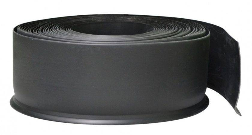 Vinyl Skirting Feathered Edge Black Roll