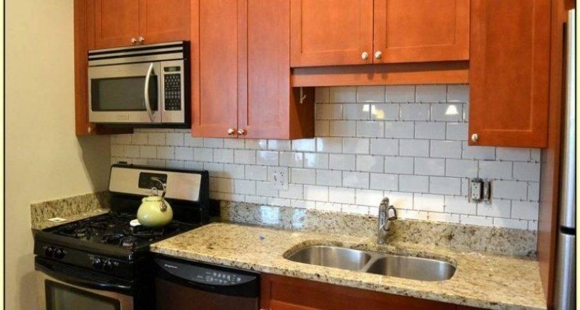 Vinyl Tile Backsplash Home Design Ideas