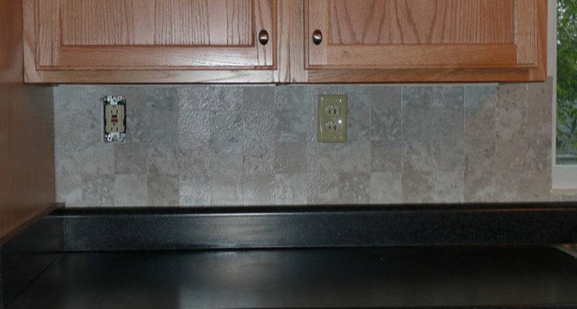 Vinyl Tile Backsplash Only Part Done However