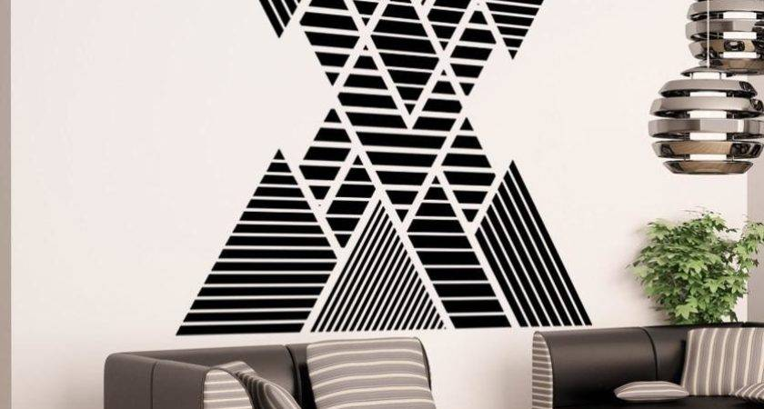 Vinyl Wall Decal Sticker Double Vision Mountains