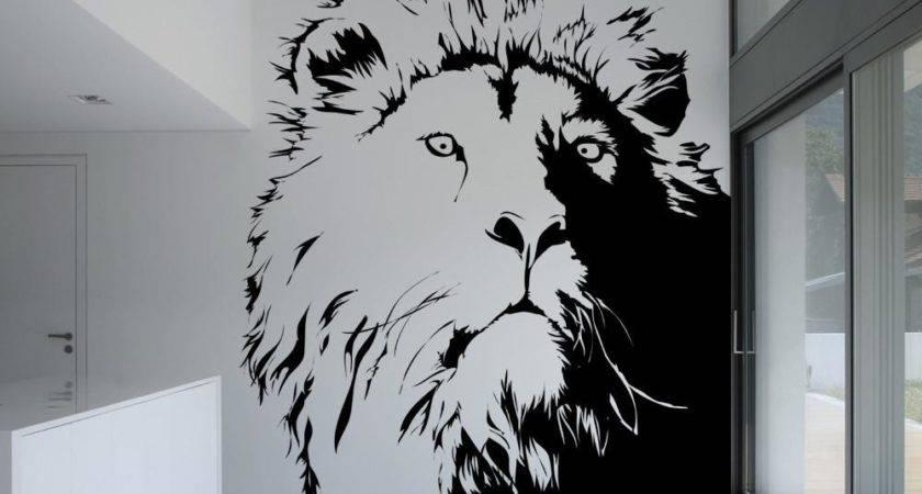 Vinyl Wall Decal Sticker Lion Head