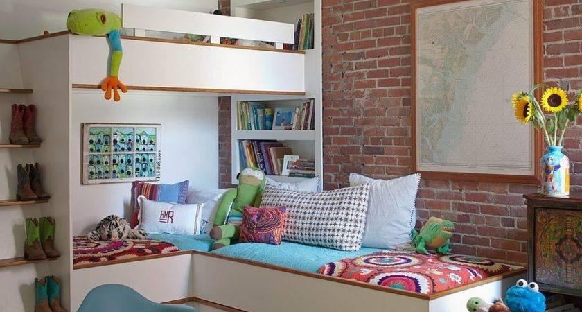 Vivacious Kids Rooms Brick Walls Personality
