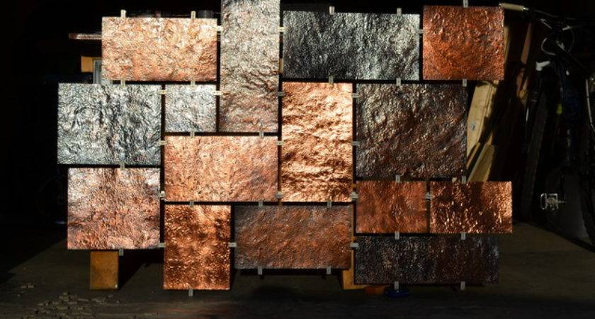Wall Art Design Ideas Colorful Hammered Metal