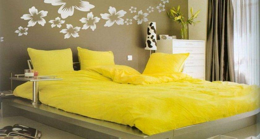 Wall Bedroom Decorating Yellow Walls