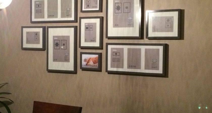 Wall Layout Ikea Ribba Frames Grey Home