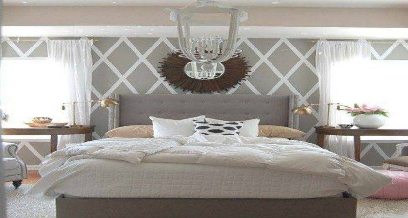 Wall Patterns Bedrooms Grey White Blue Bedroom