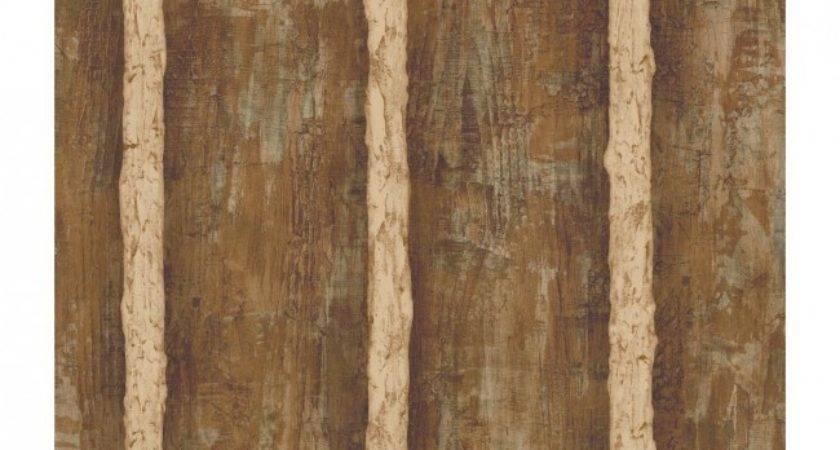Walnut Brown Faux Log Cabin Cream Grout Sure Strip