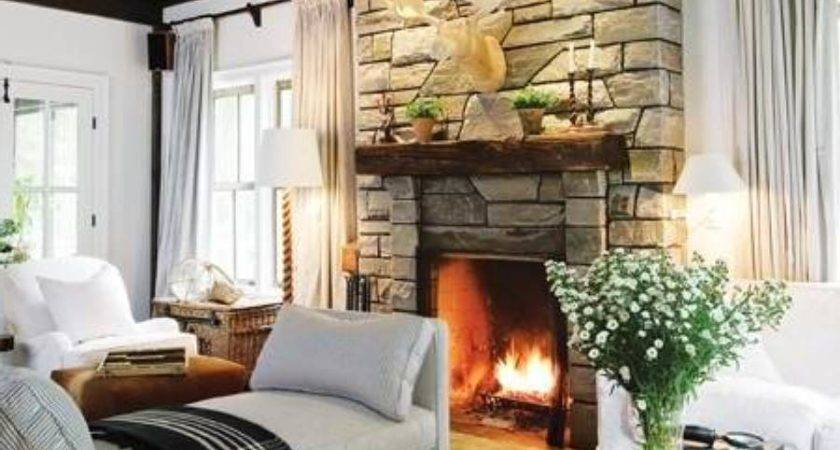 Warm Country Style Living Rooms Ceardoinphoto