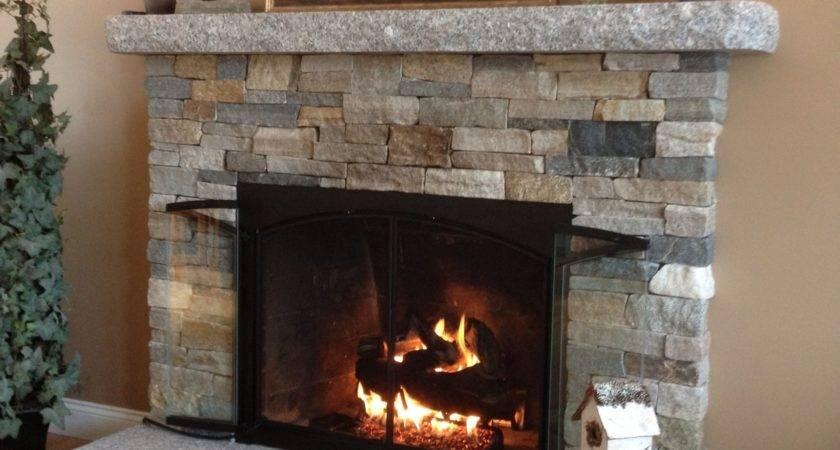 Warm Cozy Stone Fireplace Surrounds Veneer