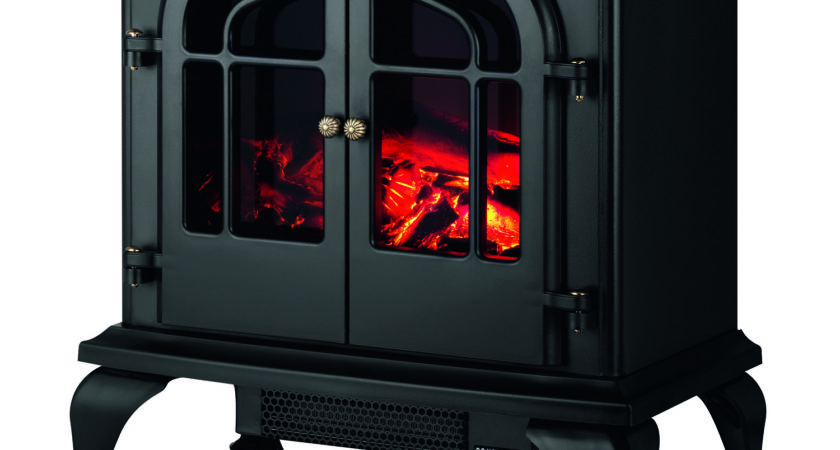 Warmlite Log Effect Stove Fire Matt Black Next