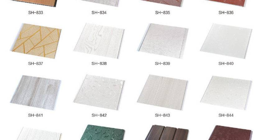 Washable Plastic Pvc Ceiling Tile Wall Panel Easy