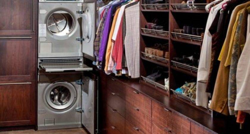 Washer Dryer Master Closet Home Design Ideas