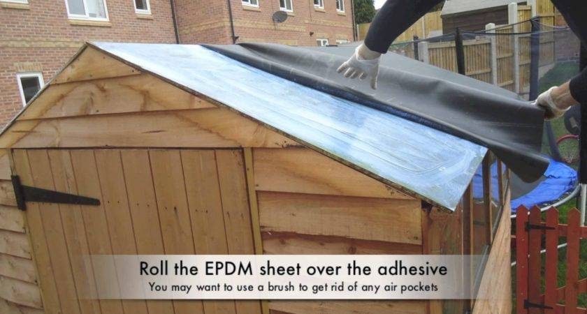 Waterproof Your Shed Roof Epdm Youtube