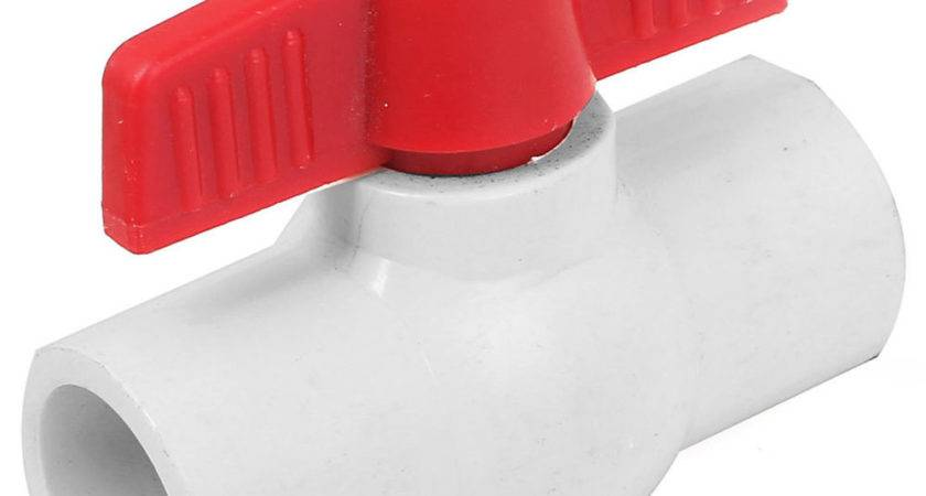 Ways Water Shut Off Pvc Slip Ends Red Handle Ball
