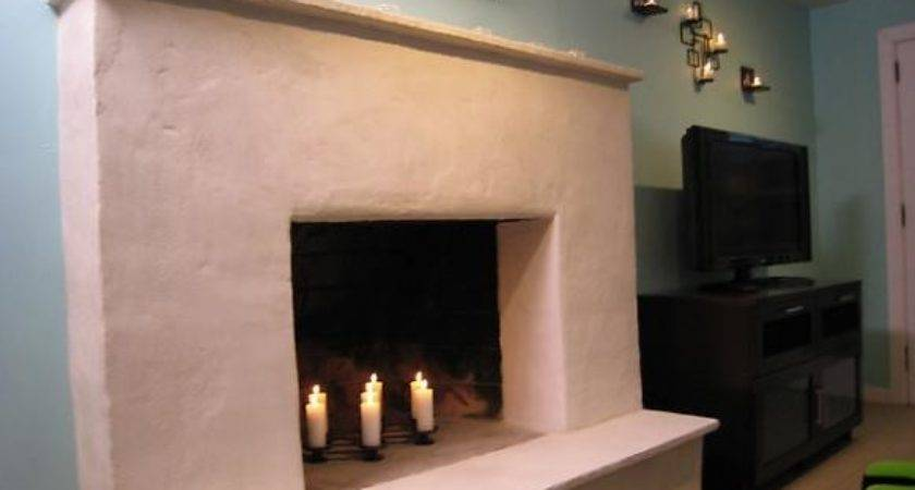 Weekend Projects Resurface Fireplace Stucco Hgtv