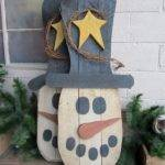 Welcome Winter Wooden Pallet Snowman Pallets Designs