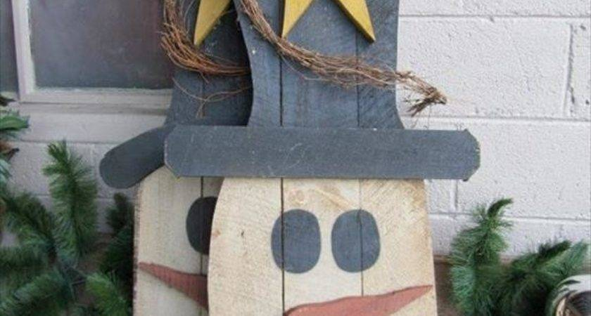 Welcome Winter Wooden Pallet Snowman Pallets Designs