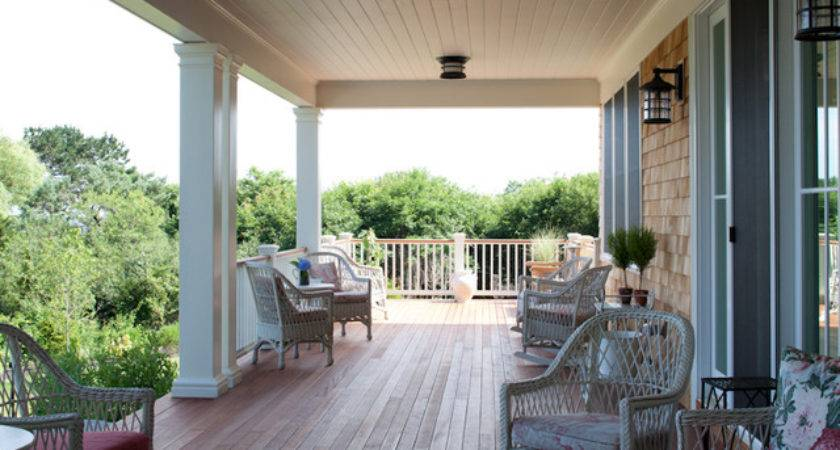 Welcoming Back Porch Coastal Views Traditional