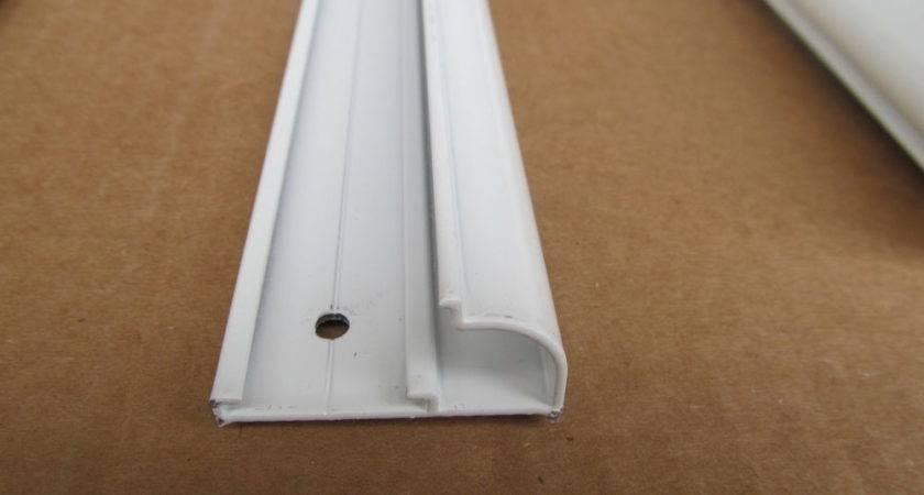 White Aluminum Vinyl Insert Type Gutter Drip Rail Trim