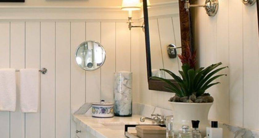 White Bathroom Beadboard Pinterest