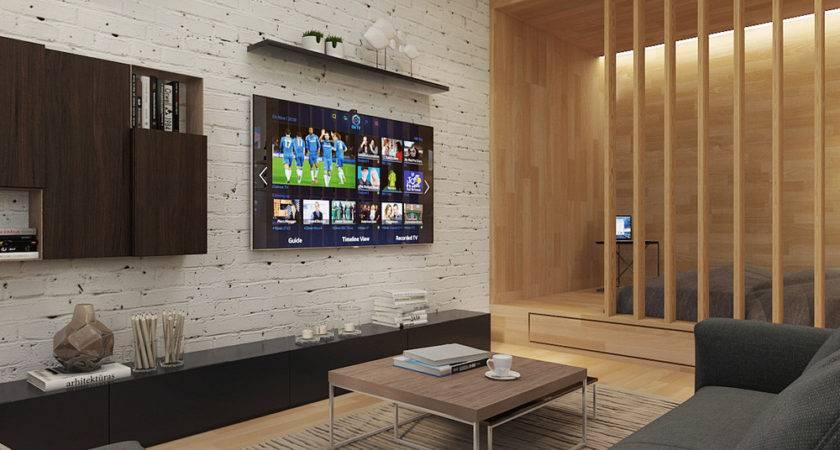 White Brick Accent Wall Interior Design Ideas