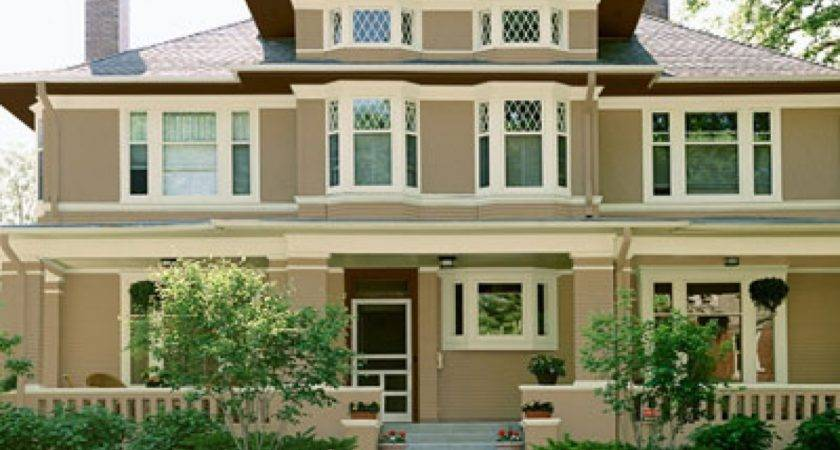 White Brick Houses Exterior Paint Color Combinations