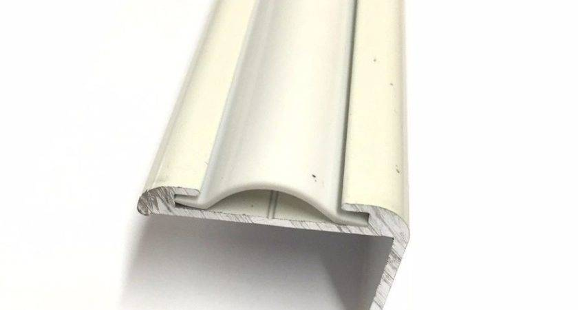 White Marine Vinyl Flat Insert Trim Mold