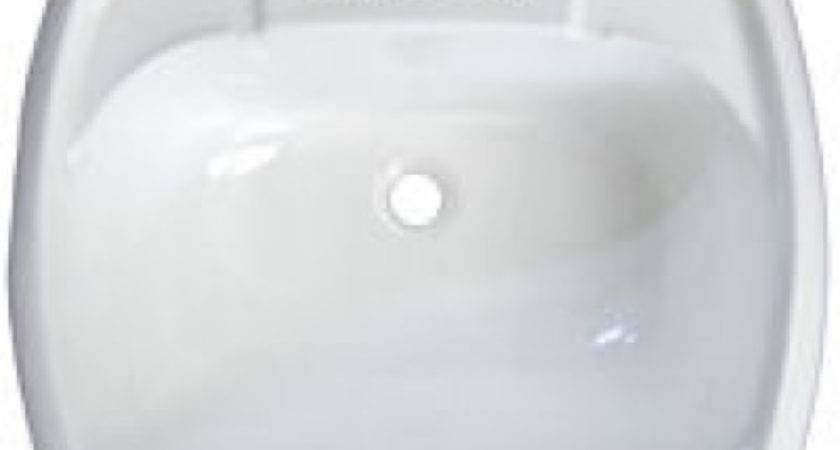 White Rectangle Plastic Lavatory Sink