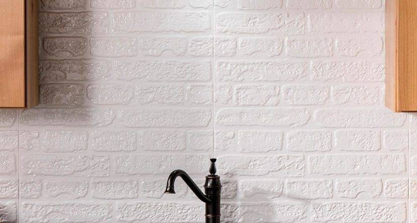 White Tile Backsplash Design Decoration