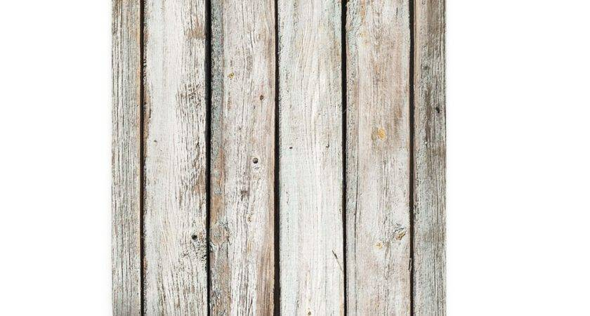 White Vintage Wood Peel Stick Wall
