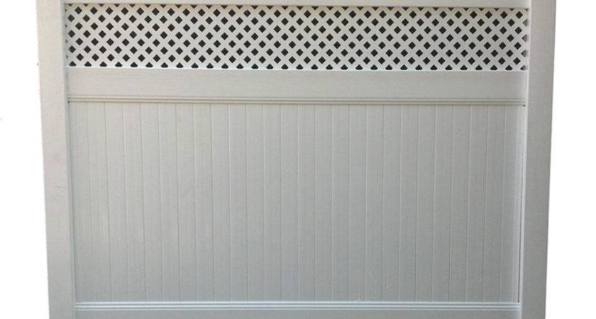 White Vinyl Privacy Fence Panel Linden Pro