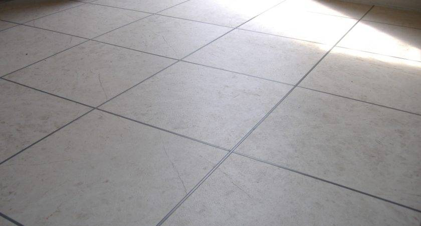 White Vinyl Tile Flooring Kitchen