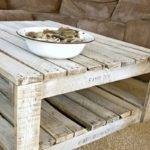 Whitewash Pallet Table Make