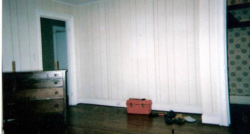 Whitewash Wood Paneling Makeover Before After Best