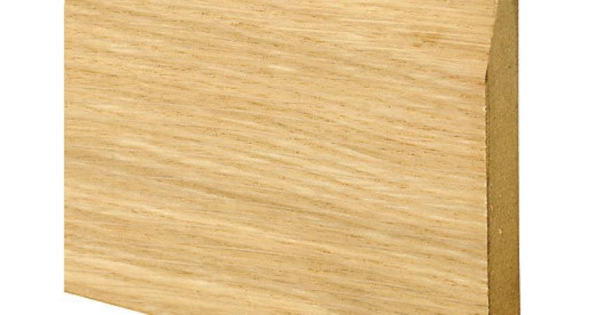 Wickes Real Oak Veneer Chamfered Skirting
