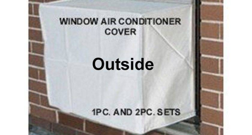 Window Air Conditioner Covers Large Outside